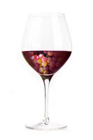 Wine concept. Vineyard in a glass collage, isolated on a white background