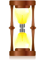 Creativity Hourglass with Light Bulb