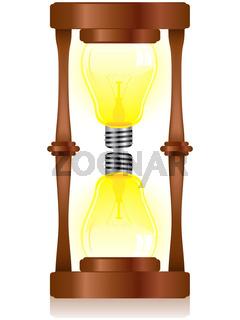Creativity Hourglass with Light Bulb