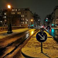 Jugendstil Thielenbrücke Im Winter in Berlin Neukölln am Landwehrkanal