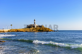 Farol da Barra one of the main historical buildings and tourist spot in the city of Salvador