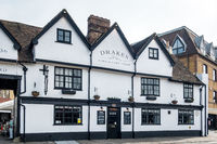 MAIDSTONE, KENT, UK - SEPTEMBER 6: View of Drakes Cork and Cask house in Maidstone on September 6, 2021