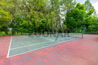 Panama David, tennis court in the park