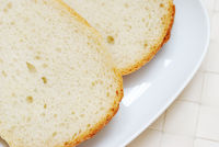 Slices of bread in the plate