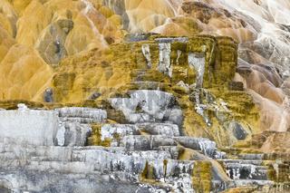 Geysierterassen in Mammoth Hot Springs