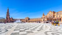 Square of Spain in Seville