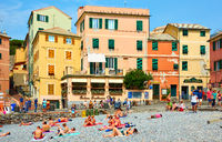 Boccadasse beach in Genoa