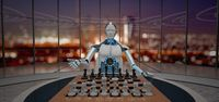 Glass Room Robot Chessboard First Chess Move