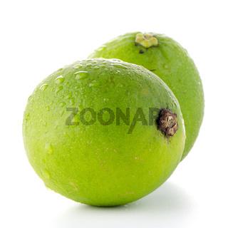 Fresh green limes