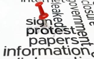 Protest concept
