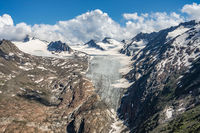 View from hiking trail to the Gurgler Ferner, Ötztal, Tyrol, Austria