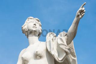 Statuen des Schlosses Belvedere in Wien
