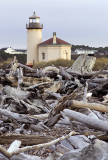 Coquille River Lighthouse Nautical Beacon Driftwoo