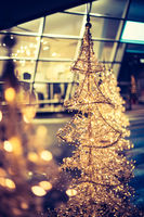 Christmas shopping: christmas lighting in front of a shopping mall