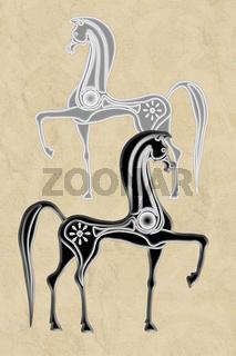 Pferde-illustration