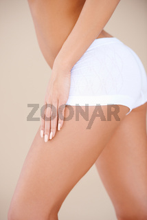 Close up of woman legs and back