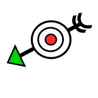 Arrow through target