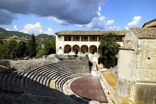 Spoleto Umbria Italy. The roman theater