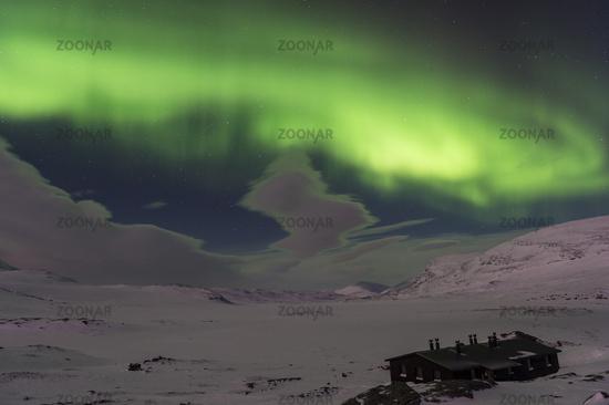 Northern lights, Alesjaure, Lapland, Sweden