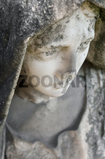 Ruined statue of Madonna