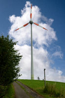 Wind farm, Bergisches Land, Germany