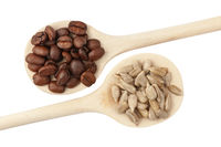 Coffee beans and sunflower seeds_small