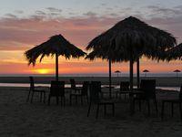 sundown at the beach of Piscinas