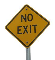 No Exit road sign isolated