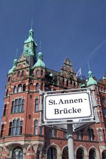 Rathaus der Speicherstadt in Hamburg