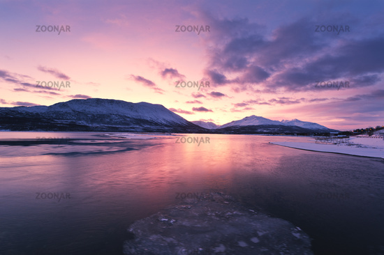 Dusk over a Fjord in Norway