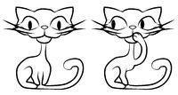 Skinny Cat Amused Drawing