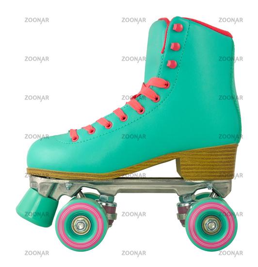 Isolated Retro Roller Skate