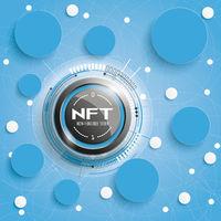NFT Circle Networks Blue Background