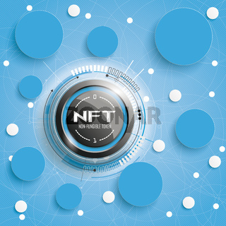 NFT Circle Networks Blue Background