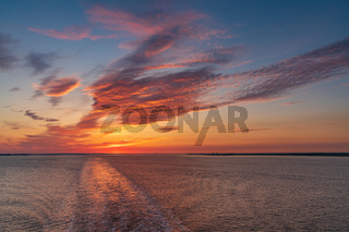 The River Humber near Sunk Island, East Riding of Yorkshire, England
