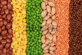 Gemüse in einer Reihe