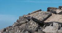 A pile of asphalt fragments.