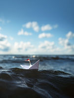 sail away with paper boat