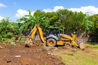 Panama David, earthmoving machine at work