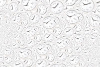 Droste effect background with infinite clock spiral. Abstract design for concepts related to time.