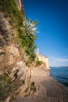 Beach of City of Rab in Croatia