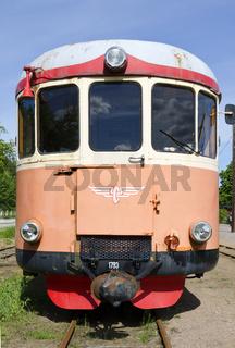 Triebwagen einer Schmalspurbahn von Virserum nach Malilla