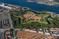 Aerial view of Fortress Kastellet in Copenhagen