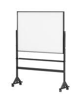Mobile school whiteboard on wheels