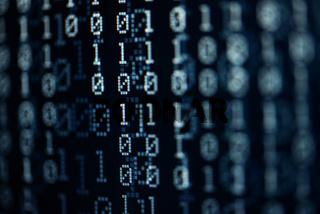 abstract dark blue pixelated binary background