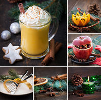 collage christmas rustic