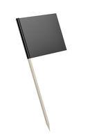 Black blank toothpick flag