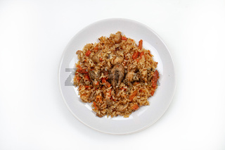Plate With Traditional Pilaw