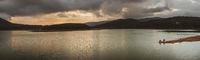Tuyen Lam Lake, Dalat, Vietnam. Panorama