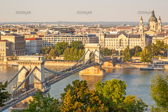 Szechenyi Chain Bridge in Budapest